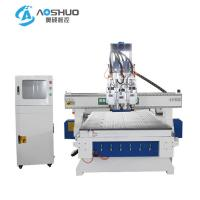 China X Y Z Axis 3 Head Wooden Cnc Router Engraving Machine With Italy HSD Brand Spindle on sale