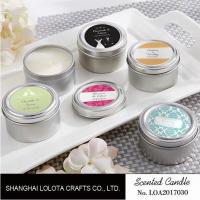 Best Chemical Free Scented Luxury Soy Candles , Personalised Tin Candles For Bathroom wholesale
