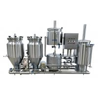 100L Experimental Brewing System , Steam Heated Pub Commercial Brewery Equipment