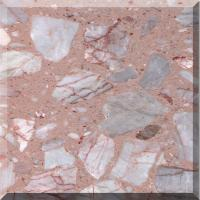 Best CE seamless Pink Artificial Granite Stone Panel for Countertops, indoor, Outdoor Wall wholesale