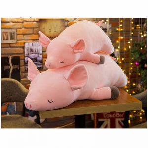 China Kawaii Pig Plush Pillow , Full Hollow Cotton Stuffed Pig Pillow 40 - 120CM on sale