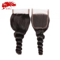 Ali Queen Loose Wave 4*4 Lace Closures Human Hair Extensions Free Shipping