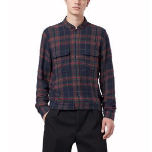 Best Autumn Cotton Plaid Mens Fashion Casual Shirts Long Sleeve Streetwear Shirts wholesale