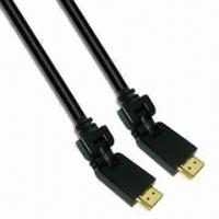 Best Oxygen-free Copper Conductor HDMI Cable with 360° Flexible Angle and Maximum Length Up to 7.5m wholesale