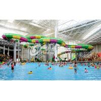 China Aquatic Playground Equipment , Large Water Slides Capacity for Family Fun in Big Water Park on sale
