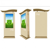 Best CB AC100V Outdoor Touch Screen Kiosk Digital Signage 2500nits wholesale