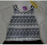 Best black lace blouse designs,white mesh lace vest wholesale
