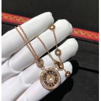 Best Charming  Cerchi Astrale 18K Rose Gold Diamond Necklace Customization Available wholesale