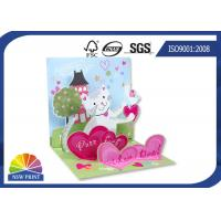 China Fancy Design 3D Pop Up Stand Display Christmas Greeting Card / Wedding Cards on sale