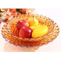 Best 370*70*120mm Home Decorations Crafts , Practical Hand Blown Glass Fruit Dish wholesale