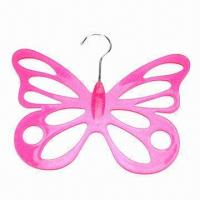 Best Butterfly-shaped Plastic Necktie Hanger, Made of PS, Various Colors and Specifications are Available wholesale