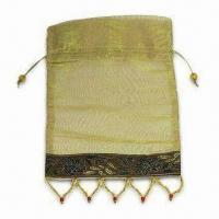 Best Sheer Bag with Delicate Bead Trim for Decoration, Available in More Than 100 Colors wholesale