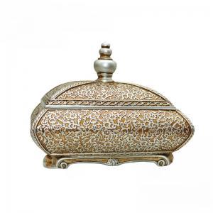 Best Room Decor Antique Style Jewellery Box , Flower Sculpture Victorian Jewelry Box wholesale