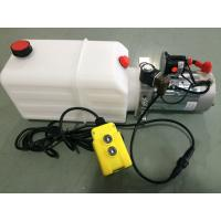 Buy cheap mini Hydraulic Power Packs 12V DC 1.6kw with 8L plastic tank max pressure 210bar product