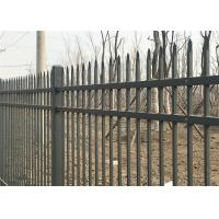 China Hercules Steel Fence1.8m X 2.4m Ornamental Welded Metal Fence Panels with Black Color PVC coated on sale