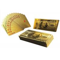 Best Custom 24K Gold Foil Plated Poker Playing Cards Bridge Size 2.25 X 3.5 Inch wholesale