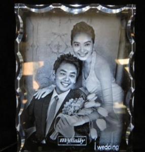 Best 3D Laser Crystal Wedding Gift (W1) wholesale