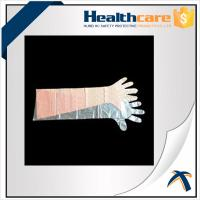 Best Dustproof Disposable Hand Cloves , Full Arm Disposable Food Service Gloves  wholesale