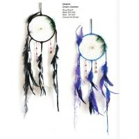 China Handmade Dream Catcher Net Pure White Wall Hanging Decoration with Feather for Nice Dreams Craft Gift on sale