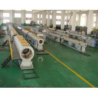 China Water Supply PVC Pipe Production Line , 60-250KW PVC Pipe Extrusion Machine on sale