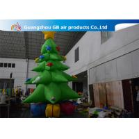 China Customized Giant Inflatable Christmas Tree Yard Decoration , Inflatable Tree With Ornaments on sale