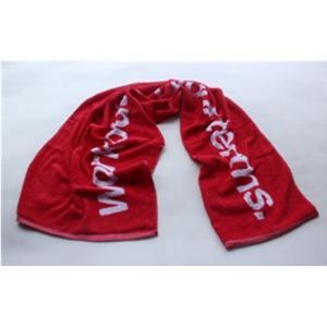 China factory design custom velour reactive printing logo sport towel