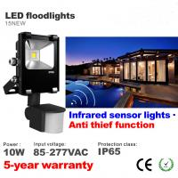 Best 10W LED Floodlight with infrared motion sensor LED Flood light Outdoor Waterproof lamp wholesale