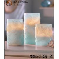 China 3 Set Scented Battery Operated LED Candles with Seashell Starfish on sale