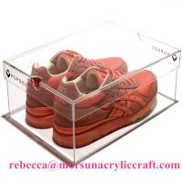 Best Transparent Acrylic Shoe Holder Plastic Display Show Case For Shoe wholesale