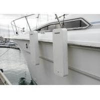 Best Flat Foam Fender for Yacht Boat White Color Polyurethane Coating Fender with Ropes wholesale