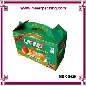 Best high quality paper fruit box/corrugated box banana orange box ME-CU029 wholesale