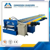 Buy cheap Metal Floor Deck Roll Forming Machine Capacity 8-10m/Min , 12 Month Warranty product