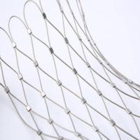 China 316 316L rope cable wire net stainless steel wire rope mesh net  zoo mesh on sale