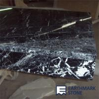 China Nero Marquina Black Marble Kitchen Countertops on sale