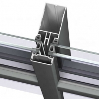 Best Fully Visible Frame Decoration Curtain Wall Extruded Aluminum Profile wholesale