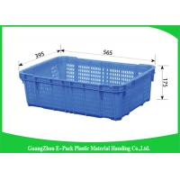 Best Green Vegetable Plastic Food Crates Large Vented For Cold Chain Transport wholesale
