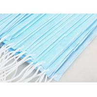 Best Adult 3 Ply Non Woven Face Mask High Filtration Capacity For Air Pollution wholesale