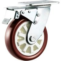 Best Industrial Heavy Duty Polyurethane Casters / 4 Caster Wheels With Brake wholesale