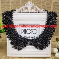 China Fashion Faux Pearl Beaded Bib Collar Necklace on sale