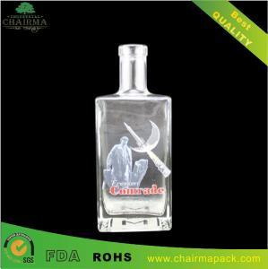 Best Decal Square Glass Bottle for Vodka,liquor,etc wholesale