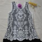 Best beautiful sleeveless lace vest for women design lace flower design sleeveless vest wholesale