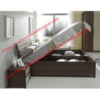 Best Lift mechanism storage bed in classic wooden bedroom furniture wholesale