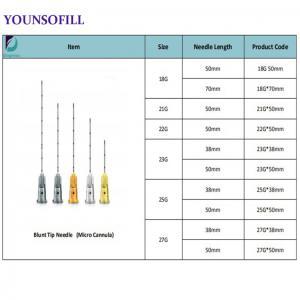 China microcannula iv cannula sizes photos blunt tip cannula syringe cannula micro cannula needle micro cannula 25g on sale