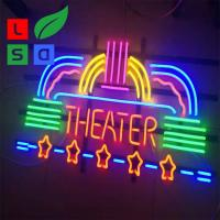 China Metal Frame Commercial Neon Coffee Sign Square Shape Neon Sign on sale
