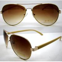 Best Handmade Round Brown Metal Frame Sunglasses , Men Eye Glasses wholesale