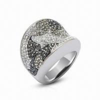 Best Swarovski Jewelry/Ring, Sterling Silver Ring with Crystal Ring, Available in New Design wholesale