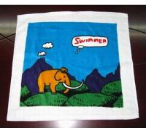 China Reactive Printing Square Towel on sale