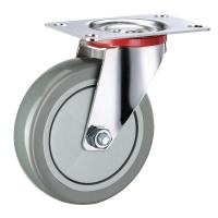 China Cart 5 Inch Swivel Caster Wheels Plastic PVC with Bearing Plate Rigid on sale