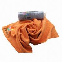 100% Polyester Microfiber Face Towel with Reactive Printing, Customized Logos and Sizes Accepted