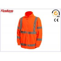 Best Long Sleeves Plus Size Polar Fleece Jacket Hivis Reflective Tapes , One Chest Pocket wholesale